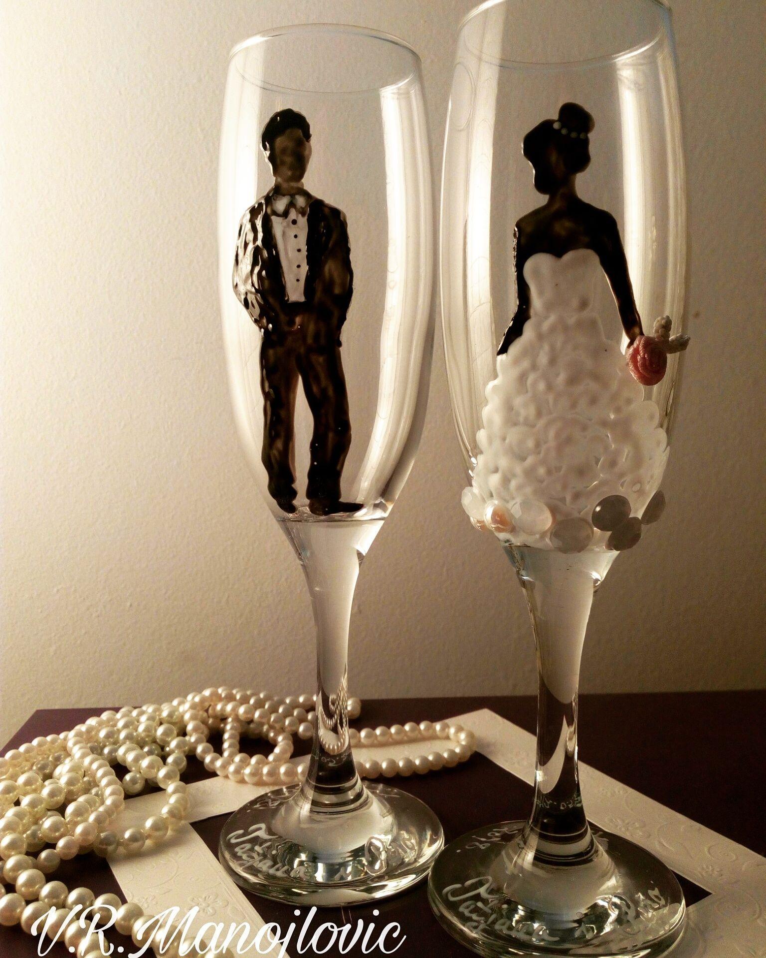 Čaše za mladence